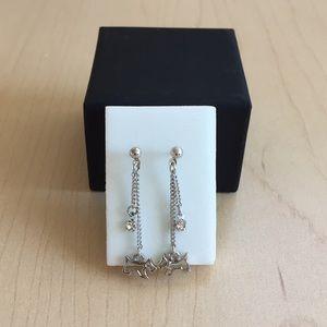 Dangling dog earrings